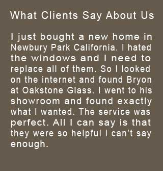 Read about reviews from clients that use Glass Simi Valley Oakstone Glass